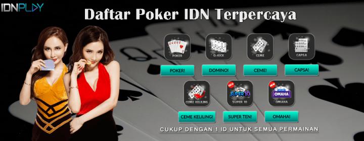 Daftar Poker IDN Terpercaya